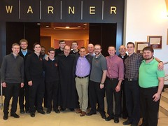 Men's Conference speaker Justin Fatica (Hard as Nails) meets St. Mark Seminarians and Faculty – March 25, 2017