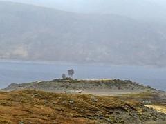 8620 An islet left high and dry - for a while maybe (Andy - Busyyyyyyyyy) Tags: 20170319 ccc clouds ggg glen glenquoich lake lll loch lochcuiach lochquoich misty mmm mountains murky qqq reservoir rrr scotland water www