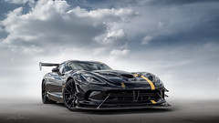 Black SRT Viper (DL_) Tags: srt viper acr black yellow sportscar transportation automotive olympusomdem5mkii