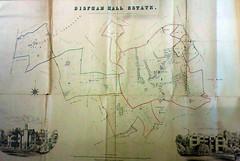 Bispham Hall Estate Plan, 1871 (The Makerfield Rambler) Tags: billinge bisphamhall