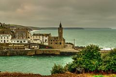 Porthleven...Cornwall. (alex.vangroningen) Tags: handheld harbour cornwall church sea clouds green cars sky houses trees hills coast uk nikond7000 nikon18200mm
