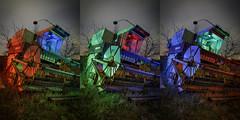 RGB Combine Redux Triptych (Notley) Tags: farm rural sky clouds combine bucolic ruralfarm missouri mcbaine mcbainemissouri notley notleyhawkins 10thavenue httpwwwnotleyhawkinscom missouriphotography notleyhawkinsphotography ruralphotography boonebounty bocomo boonecountymissouri light lightpainting greenlight green night nocturne midwest ruralusa blue bluelight red redlight rgblightpainting boonecountymo boonecounty farmimplement 2017 longexposure april trio triad triptych