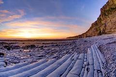 Let the dancers inherit the party (pauldunn52) Tags: nash point beach glamorgan heritage coast wales platforms pebbles limestone sunset
