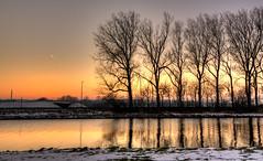 The Fractal Geometry of Nature. (Alex-de-Haas) Tags: 1635mm d750 dutch hdr holland nederland nederlands netherlands nikkor nikkor1635mm nikon nikond750 noordholland noordhollandschkanaal thenetherlands westfriesland belichting bomen boom canal cloudless daglicht daylight handheld hemel highdynamicrange kanaal landscape landscapephotography landschap landschapsfotografie licht light lighting lucht onbewolkt skies sky sneeuw snow sundown sunset tree trees unclouded water winter zonsondergang