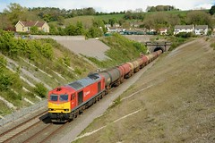 60074. Chipping Sodbury. 25-04-2017 (*Steve King*) Tags: 60074 chipping sodbury class 60 tunnel 6b33 murco tanks oil theale rboeston