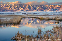 Wellsville Reflections by James Neeley http://flic.kr/p/dCAVqF (#AggieLife) Tags: ifttt flickr mountains sunrise landscape utah logan cachevalley flickr28 jamesneeley wells