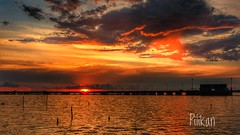 3 colors sky (Pilikan) Tags: fuji xt2 1655 f28 sky red blue yellow sun sunset sunrise fujinon evening travel explore cpl filter bw polarise ray cholburi road urban
