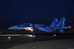 Kazakhstan Air Force Sukhoi Su-27M2 17 Yellow taxiing back after demoing at the opening of KADEX-2016, Astana Kazakhstan (Jeroen.B) Tags: 2016 airport defence expo kadex kazachstan kazakhstan uacc қазақстанның air force sukhoi su27m2 17 su27 27 ye yellow 36911023613 kadex2016 astana