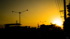 Soar Like an Eagle (BNDC) Tags: sunrise sun yellow morning silhouette new city manila street life inspire live dream fly