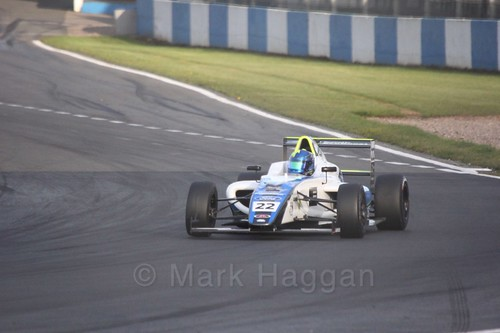 Manuel Sulaimán in British F4 Race Two during the BTCC Weekend at Donington Park 2017