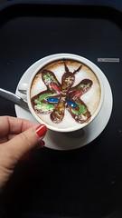 Buongiorno farfalloso (maresaDOs) Tags: cappuccino farfalla colore vasto arte art coffeart butterfly papillon latte caffè