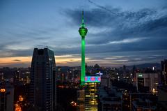 DSC_8329 (seanatron123) Tags: malaysia asia nikond5100 menara kuala lumpur kualalumpur tower cityscape sunset lights