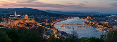 Budapest sunset (net.furion) Tags: budapest sunset hungary sony ilce a7rii sel70200g buda castle parlaiment chain bridge water reflection lights clouds