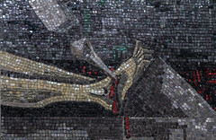 Via Crucis XI - Jesus Is Nailed to the Cross (Lawrence OP) Tags: mosaic aberdeen cathedral stationsofthecross viacrucis nail crucified jesuschrist gabrielloire
