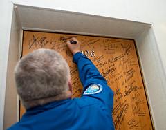 Expedition 51 Door Signing (NHQ201704200017) (NASA HQ PHOTO) Tags: expedition51preflight roscosmos expedition51 kazakhstan doorsigning baikonur cosmonauthotel fyodoryurchikhin nasa aubreygemignani