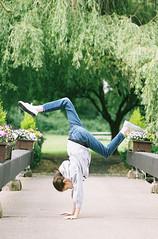 "{Film}  - ""Spring Has Sprungeth!"" (peakbagger_trin) Tags: 50mm14 fuji fujicolorpro400h gymnastics nikonn75 spring"