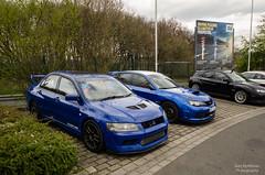 Mitsubushi Evo (Kurt Blythman) Tags: nurburgring nordeschliefe green hell ring track cars auto racing