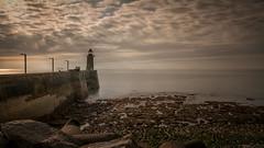 France - lighthouse of Fécamp (Toon E) Tags: 2017 france normandy fécamp sea seashore pier lighthouse longexposure ndfilter outdoors sony 7rm2 zeiss sonyfe1635mmf4 sunset