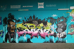 Oh ow, look! It's streetart! (Jürgo) Tags: streetart streetartgermany streetartffm streetartfrankfurt graffiti graffitigermany graffitideutschland graffitiffm frankfurt frankfurtbockenheim frankfurtammain frankfurtstreetart ffm