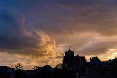 Saint Martin's of Liege (Falcdragon) Tags: sonya7alpha ilce7 sonyfe1885mm evening liège belgium city sunset sky clouds light