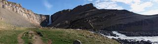Hengifoss wide panorama