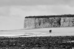 Joss Bay wildness. (pstone646) Tags: seascape nature people desolate cliffs blackandwhite thanet kent monochrome waves shore sea sky weather