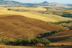 Rolling Tuscany fields after harvest (Gregor  Samsa) Tags: italy italia tuscany toscana summer august trip roadtrip exploration landscape scenery scenic sun sunlight rolling field fields hill hills rollingfields rollinghills after harvest afterharvest
