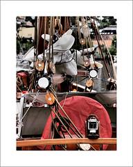 Two master detail (Christa (ch-cnb)) Tags: two norway boat norge wooden ship olympus master photowalk tall lantern mast trondheim sørtrøndelag zuiko japanphoto rigging e5 trøndelag 2013 nasjonal zd40150mm artfilter dramatictone fotovandring