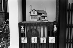 Decoration of the Compressor Unit (Purple Field) Tags: street leica bw film monochrome japan analog 35mm walking alley kodak iso400 trix rangefinder 400tx  40mm m3  shiga omihachiman  minilux f24 summarit            stphotographia x