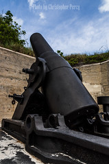"12"" rifled Mortar (Photos by Christopher Percy) Tags: history beach water time florida fort military sony historic mortar cannon beaches desoto lapse fortdesoto"