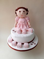 Rag Doll Cake (Made In Cake) Tags: pink cute cake doll blocks ragdoll