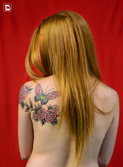 Dany on Red (Daniel VC) Tags: red daniel tatto dany valverde