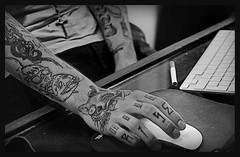 blast (BlackStones707) Tags: blackwhite cigarette tattoos crucifix tattooist lamaisondestanneurs nikond5100 blast