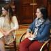 Olivia Piquero (Coordinadora Web/Cm Casa de América) y Sandra Garrido (Directora de Innovación de IEBS)