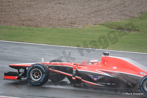 Max Chilton in Free Practice 1 for the 2013 British Grand Prix