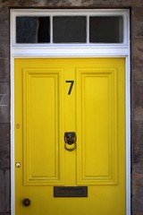 Yellow Number 7 (keith bissett) Tags: door uk greatbritain yellow scotland post unitedkingdom box britain scottish 7 number seven letter british northberwick eastlothian northberwickharbour