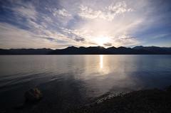 Sunrise at Panngong Tso (Lake) - Ladakh, Jammu and Kashmir, India (anindya55) Tags: lake landscape nikon ladakh pangong sigma1020mm pangongtso ultrawideangle pangonglake sigma1020mmf456exdchsm d5100 nikond5100