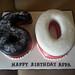 60th Numbered birthday cake