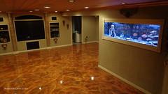 Metallic Marble -  Fort Wayne IN -  TV & Tank (Decorative Concrete Kingdom) Tags: ohio lima metallic basement fishtank epoxy resurfacing decorativeconcrete epoxyflooring epoxycoating basementflooring