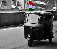 Independence day (biswajitp07) Tags: autorikshaw independence day freedom flag 15th aug street photography