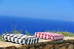 Sea view! (sifis) Tags: blue red sea sky island nikon view greece 85 cyclades mykonos sakalak d700 σακαλακ