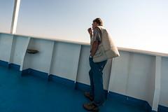 contemplazione 4.jpg (qbetto.com) Tags: ferry boat mare campania sigma 8mm grandangolo viaggio salerno sicilia turisti traghetto ultrawideangle camionisti contemplazione