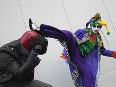 KnightCon 2013 joker cosplay (the_gonz) Tags: sexy dc costume cool comic geek cosplay yorkshire convention batman joker dccomics gotham comiccon con xscape castleford thejoker glasshoughton jokercosplay knightcon thejokercosplay