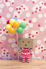 Balloons, Dress & Me (HiroChan_) Tags: stilllife toy figurine kotobukiya revoltech nendoroid danboard