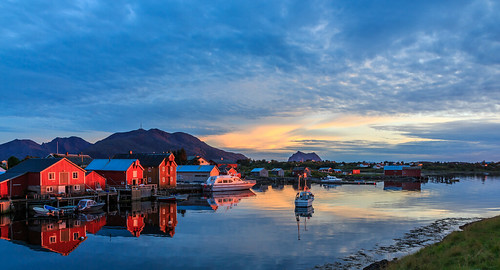 "Evening magic at ""Vegaøyan - The Vega Archipelago"" (UNESCO world heritage site)"