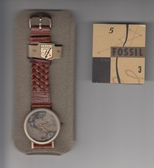 Fossil BW 6712 (tampatroy727) Tags: man leather rock stone america fossil map explorer watch bone wrist bw6712