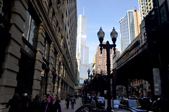 Wabash Avenue (tacosnachosburritos) Tags: street city people urban woman chicago man guy clock girl grit thestreets downtown state windy gritty macys theloop marshallfields