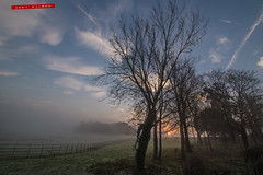 Misty Morning (AndyWilson) Tags: morning red mist fog sunrise landscape sony alpha a77 glynde susssex 1188mm