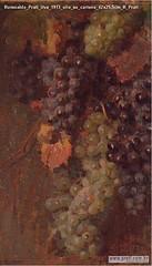 Romualdo Prati Uva 1913 olio su cartone 42x25,5cm R Prati