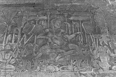 Bas relief of King Suryavarman II (Mark Obusan) Tags: king gallery south angkorwat relief siem reap outer bas kingdomofcambodia suryavarmanii
